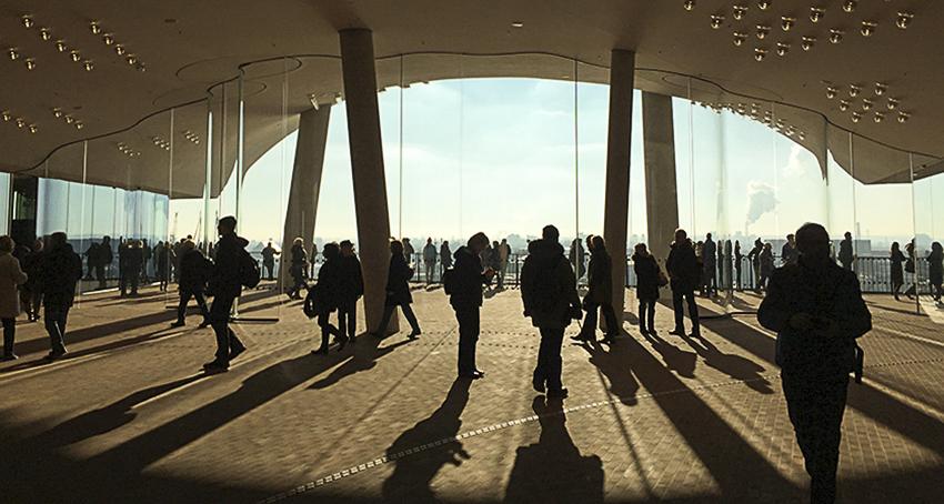 Die Plaza der Elbphilharmonie Hamburg Plaza innen