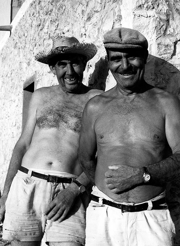 Impressionen Formentera 1960-80 Bauabeiter