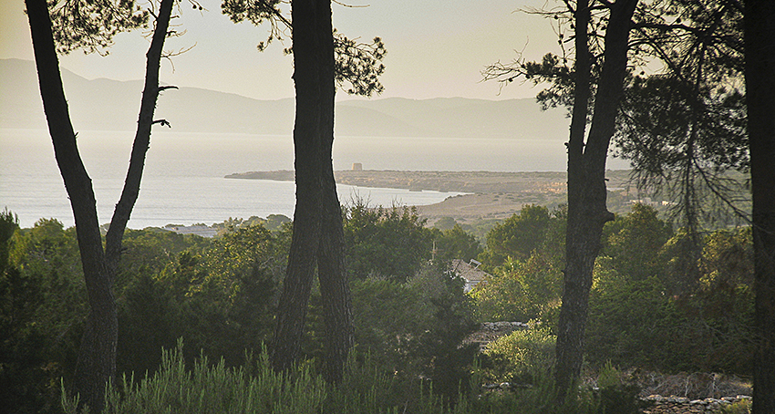 Adéu Formentera Blick Cap de Barberia Richtung Meer
