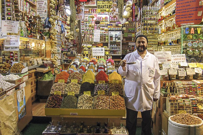 City Galerie Istanbul, Marrakech, Lissabon Basarverkäufer, Süßigkeiten und Nüsse