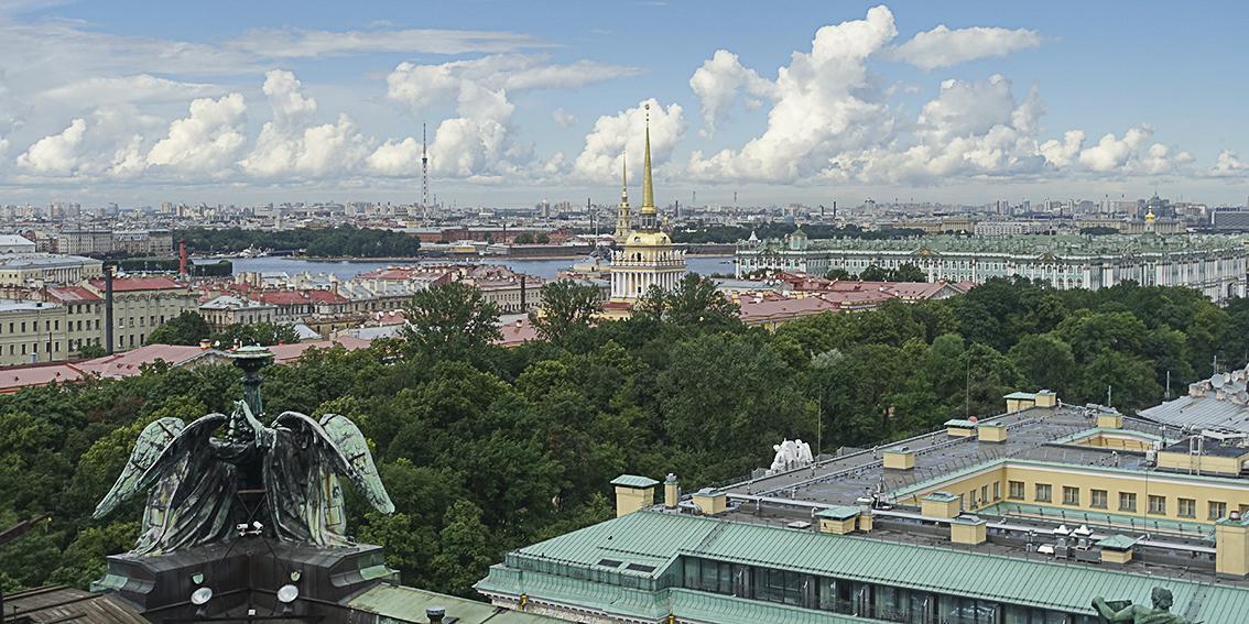 Zarenstadt Sankt Petersburg - Fabergé - Katharinenpalast Blick von der Isaakskathedrale