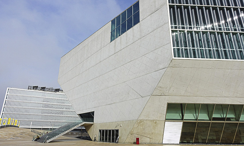 Casa da Musica Porto Außen Eingang
