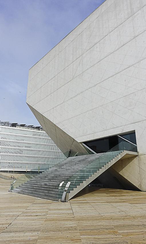 Casa da Musica Porto außen Haupteingang