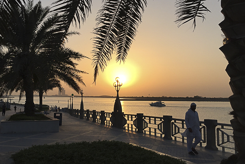 Abu Dhabi Stadt Corniche