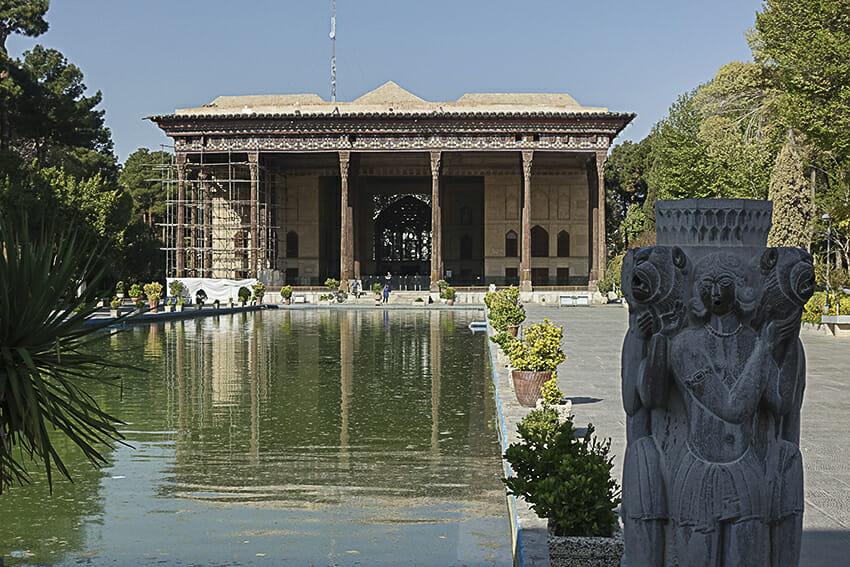 Chehel-Sotun-Palast Reich Skulptur