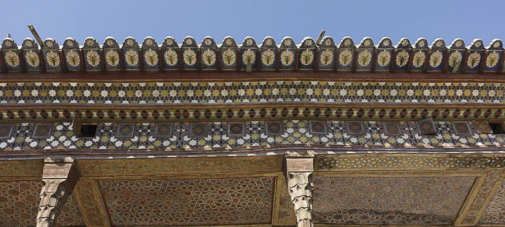 Chehel-Sotun-Palast Dach Verzierung