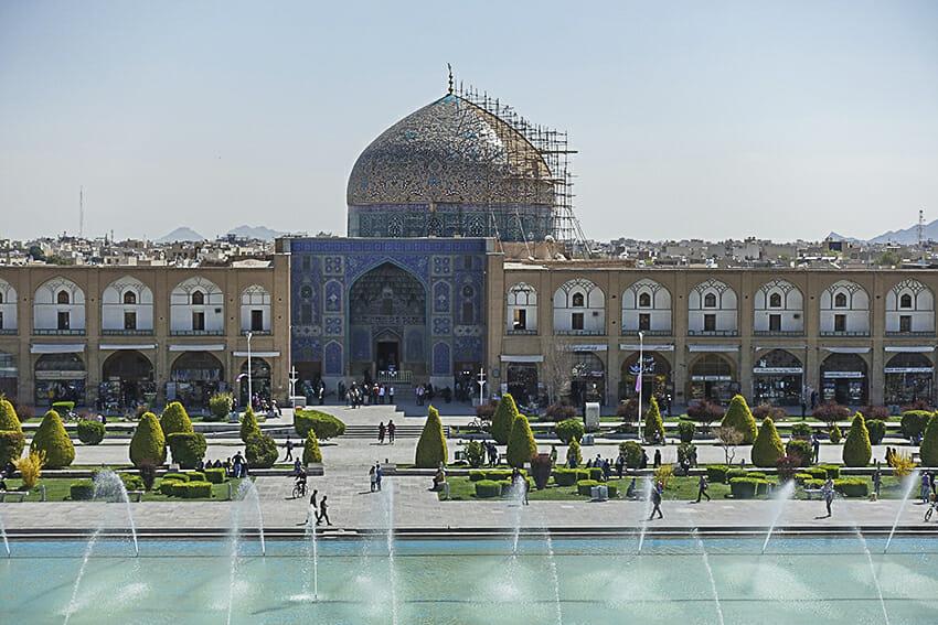 Imam Platz Moschee in Reparatur