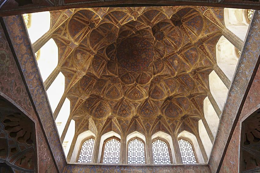 Ali-Qapu-Palast Isfahan Deckengestalltung