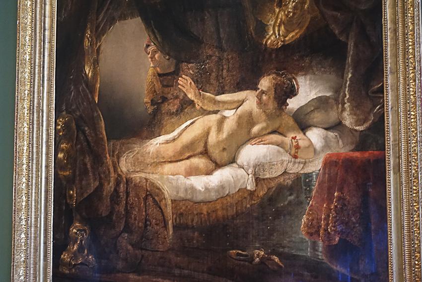 Zarenstadt Sankt Petersburg - Eremitage Danae, Rembrandt um 1636