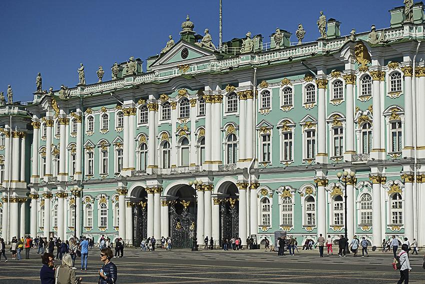Zarenstadt Sankt Petersburg - Eremitage Eremitage, Eingang