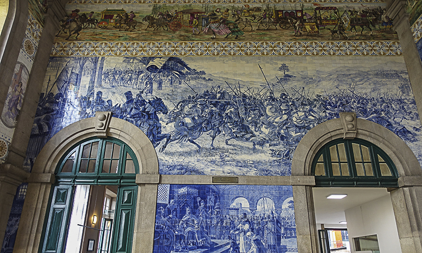 PORTO die barocke Stadt am Douro Bahnhof São Bento