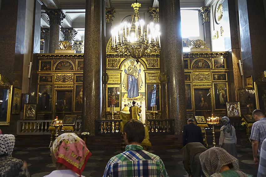 Zarenstadt Sankt Petersburg - Kathedralen Kasaner Kathedrale innen