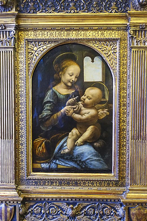 Zarenstadt Sankt Petersburg - Eremitage Madonna Benois, Leonardo da Vinci 1478