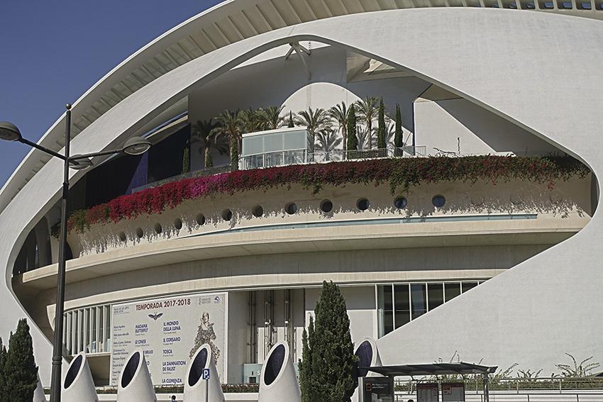 Oper Detail Valencia, Stadt der Künste und der Wissenschaften